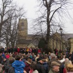 Crowd by Corbridge Church