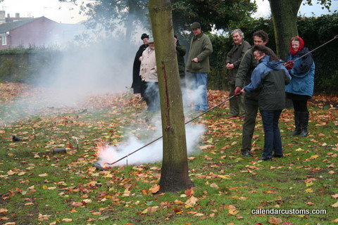 Averil, firing a Fenny Popper