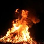 Bonfire burns up