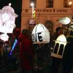 Lanterns set off