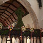 Garland in Church