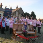 Goathland Plough Stots and supporters on the Green