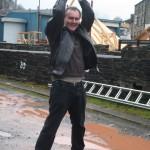 John limbers up