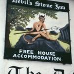 devon shebbear devils stone inn sign
