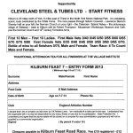 Road Race Entry Form