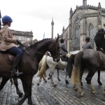 Cavalcade at the Mercat Cross