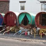 Caravans in town