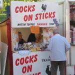 Cocks on Sticks stall